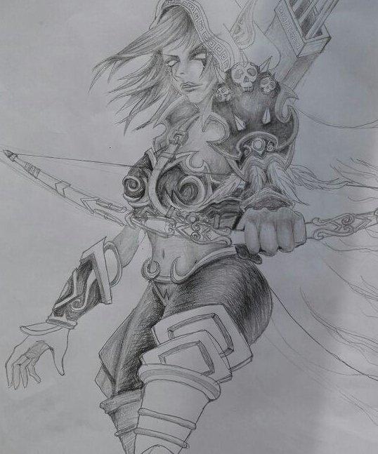 魔獸世界 新聞中心 游戲新聞  純手繪的鉛筆畫 希爾瓦娜斯. 相關內容