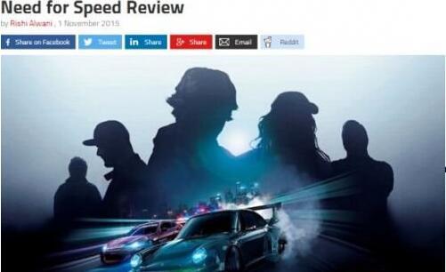 《极品飞车19》首批媒体评分出炉 褒贬不一
