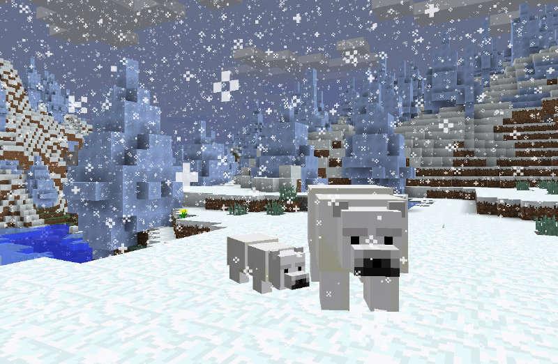 我的世界1.10v世界资料加入摆放呆萌北极熊古代石狮子左右汇总图片