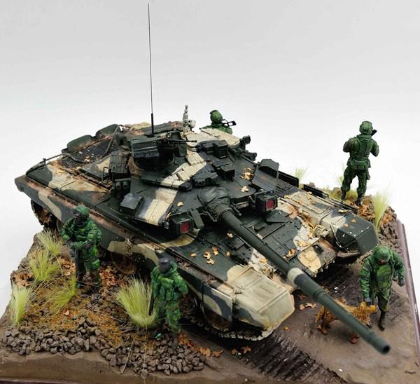 俄罗斯T-90主战坦克精美模型作品欣赏