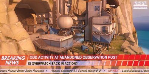 守望先锋地图监测站直布罗陀资料平面图