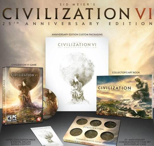 《文明6》25周年纪念版 全球仅卖20000套