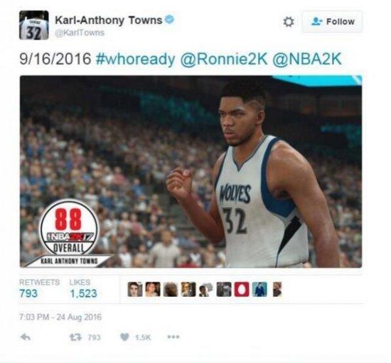 NBA2K17球员能力值公布 众球星推特大晒能力值