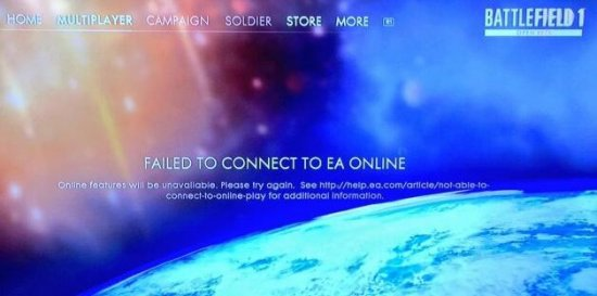 挤爆服务器?《战地1》和EA其他游戏都出故障