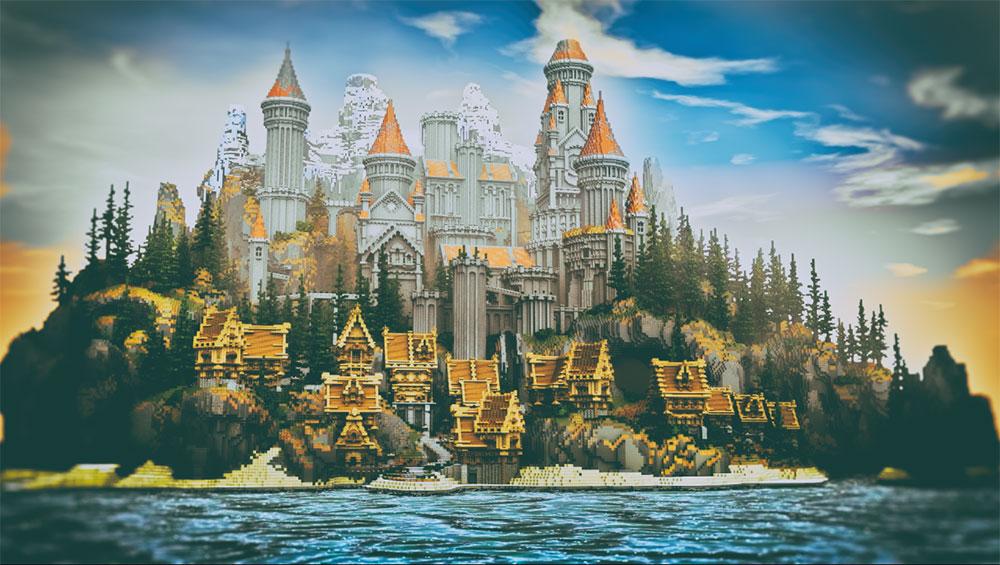 我的世界城堡内部设计图展示