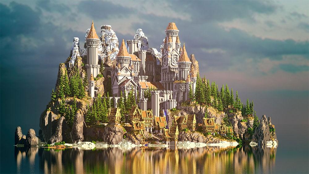 我的世界城堡主城设计图展示