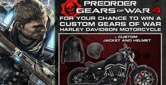 预购《战争机器4》可得哈雷戴维森摩托车