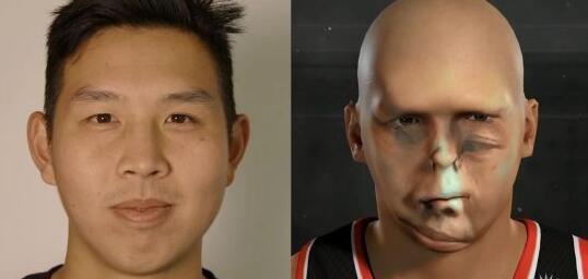 《NBA 2K17》谜之恐怖面部扫描  五官全错位