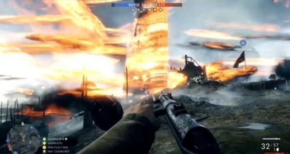 超级bug!《战地1》巨型飞艇变身火焰龙卷风