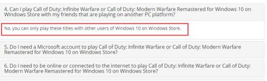 COD13和COD4:Win10版无法与Steam联机
