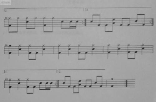 逆战架子鼓曲谱 逆战张杰的架子鼓教学曲谱