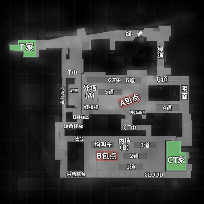 列车停放站(de_train)地图 中英文报点