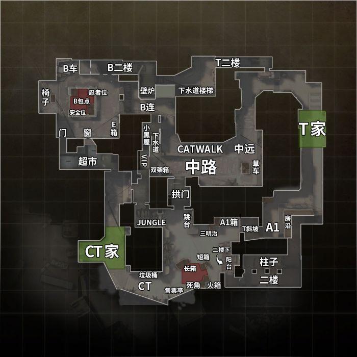 荒漠迷城(de_mirage)地图 中英文报点